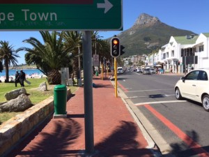 De boulevard in Camps Bay, Cape Town.