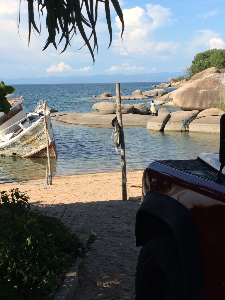 Great camping spot at Lake Malawi in Monkey Bay.