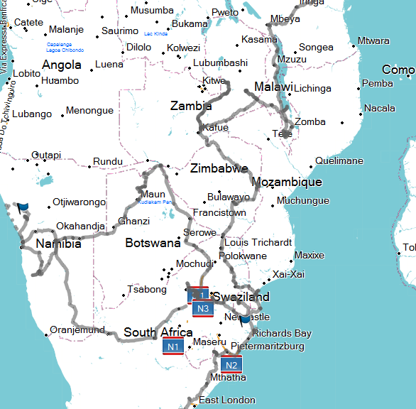 Route | Steef and Jasper through Africa
