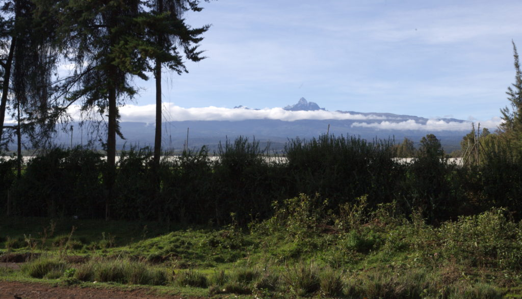 Mount Kenya, the highest mountain of the country.