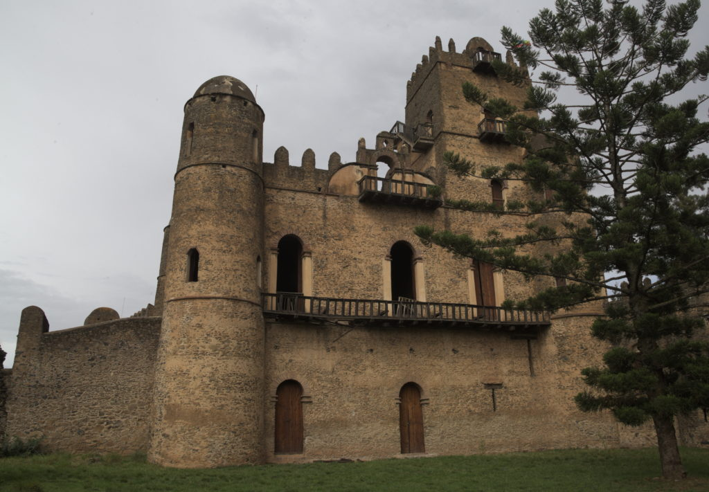 One of the castles in Gondar.