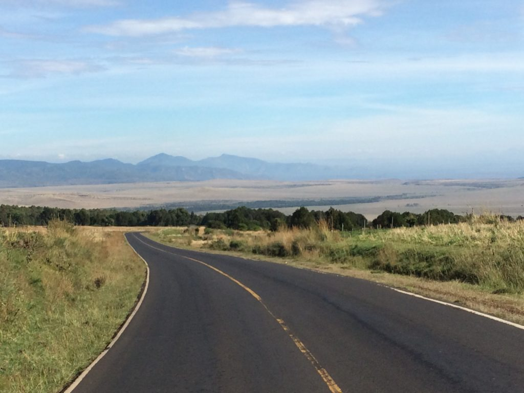 Beautiful scenery (and road) in northern Kenya.