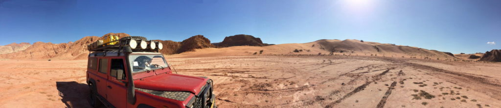 Playing around in the Wadi Araba desert.