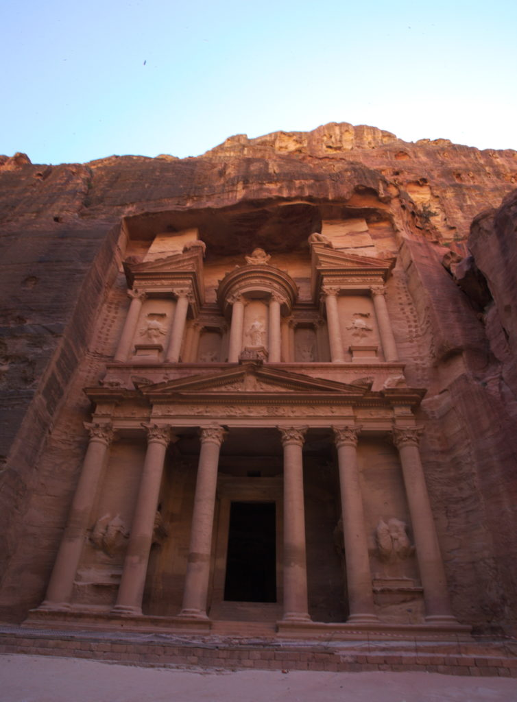 The 'Treasury', one of Petra's best kept temples.