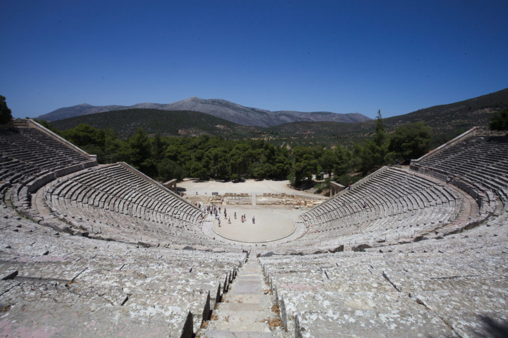 Largest remaining amphitheater in Epidaurus.